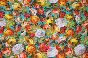 Цветы на ментоле  кулирка Карде