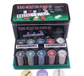 Набор для Покера 200 фишек с номиналом + сукно
