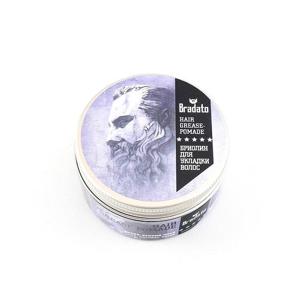 Бриолин для укладки волос Bradato Hair Pomade Coffee