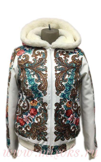 "Куртка из овчины ""Незабудка"""