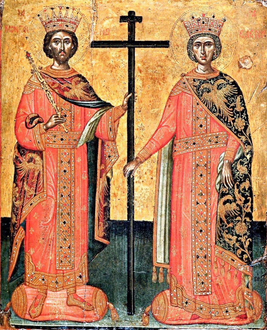 Икона Константин и Елена (копия 17 века)