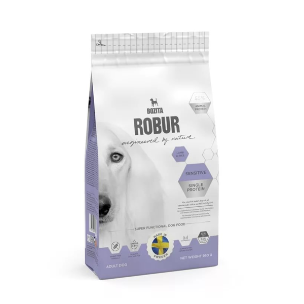 Корм сухой BOZITA ROBUR Sensitive Single Protein Lamb & Rice для взрослых собак с нормальным уровнем активности и чувствительным пищеварением с ягненком 3кг