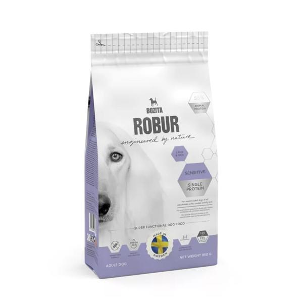 Корм сухой BOZITA ROBUR Sensitive Single Protein Lamb & Rice для взрослых собак с нормальным уровнем активности и чувствительным пищеварением с ягненком 12.5кг
