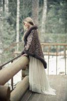 Эксклюзивный платок с мехом купить фото цены