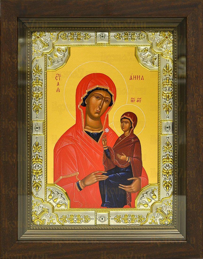 Анна Праведная, мать Богородицы (24х30), серебро
