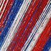 Нитяные шторы  оптом  радуга с люрексом цвет триколор