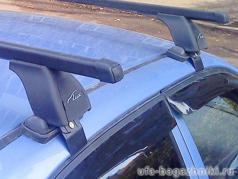 Багажник на крышу Ravon Nexia R3 2015-... , Lux, прямоугольные стальные дуги