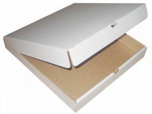Коробки под пиццу 33 см бело/бyр. (50 шт.)