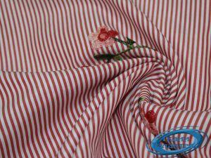 """Рубашечная ткань полоска """"вышивка"""" 16491/17A/D3/C#3"""