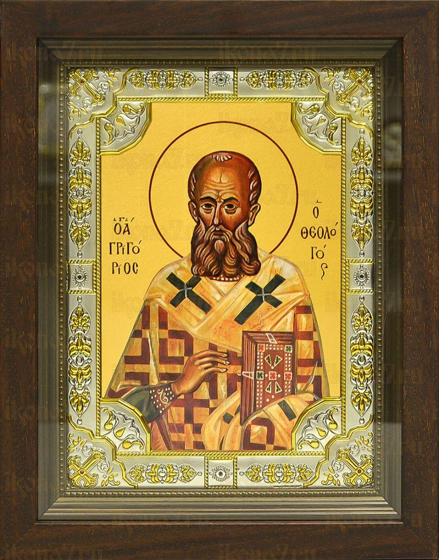 Григорий Богослов (24х30), серебро