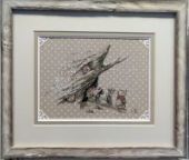 "Cross stitch pattern ""First snow""."