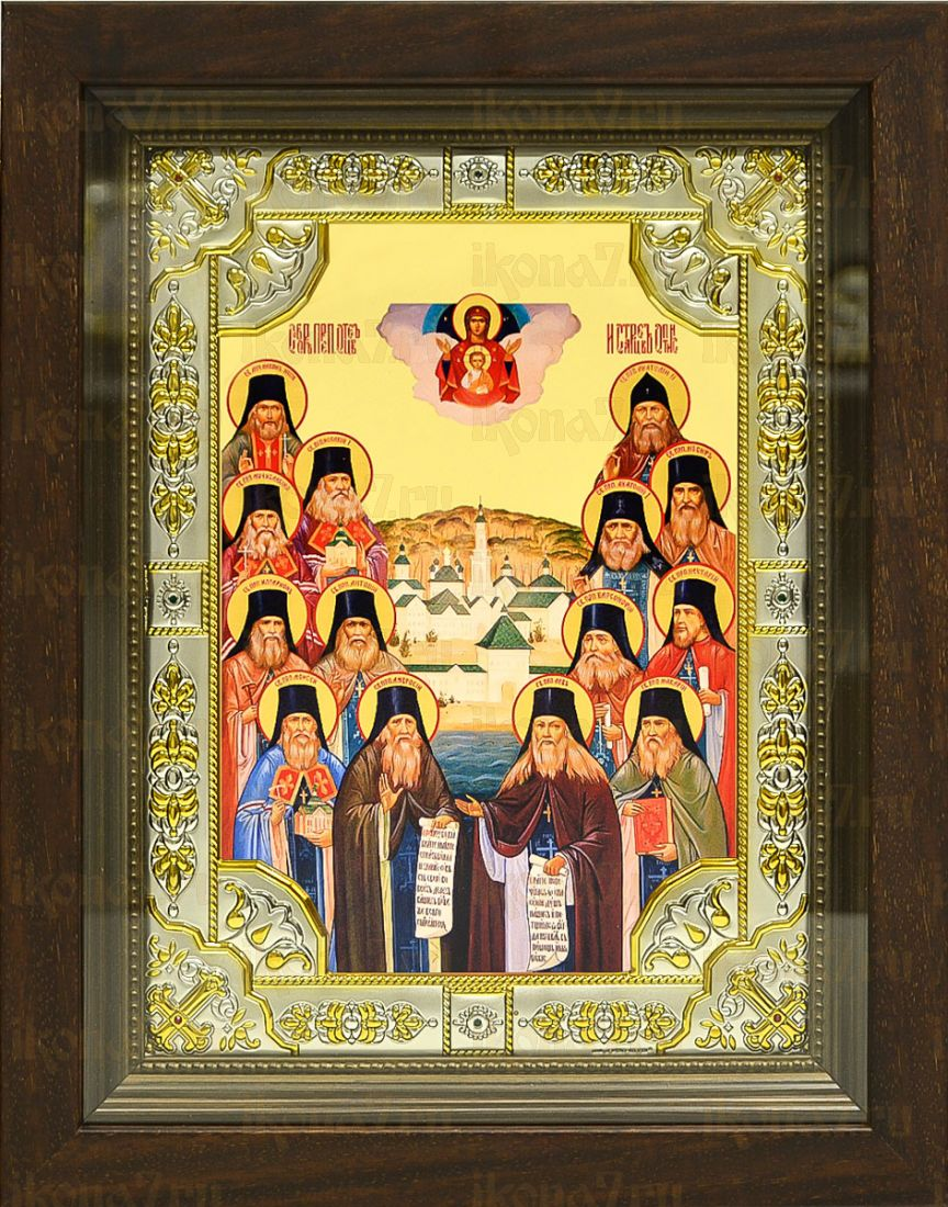 Собор Оптинских старцев (24х30), серебро