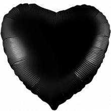 """Сердце, чёрный, 18""""/ 46 см, Россия"""