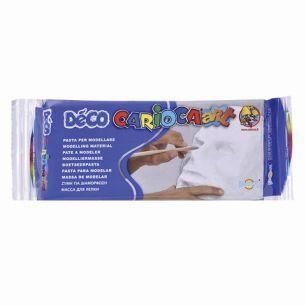 """Пластичная масса для моделирования и лепки CARIOCA """"Deco"""", 500 г, отвердевающая, белая, 30996/31"""