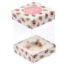 """Коробка для капкейка """"Для тебя"""", 7,7 х 12 х7,7 см   1433281"""