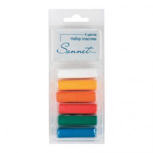 """Пластика """"Сонет"""" (пластилин отверждающийся), 6 основных цветов, 120 г, 59103592"""