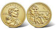 США 1 доллар 2018 индианка Сакагавея - Джим Торп. Легенда Американского футбола. UNC
