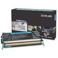 Lexmark C748H1CG картридж cyan оригинал 10000 стр