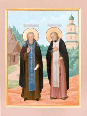 Икона Сергий Радонежский и Серафим Саровский