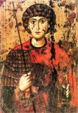 Икона Георгий Победоносец (копия 12 века)