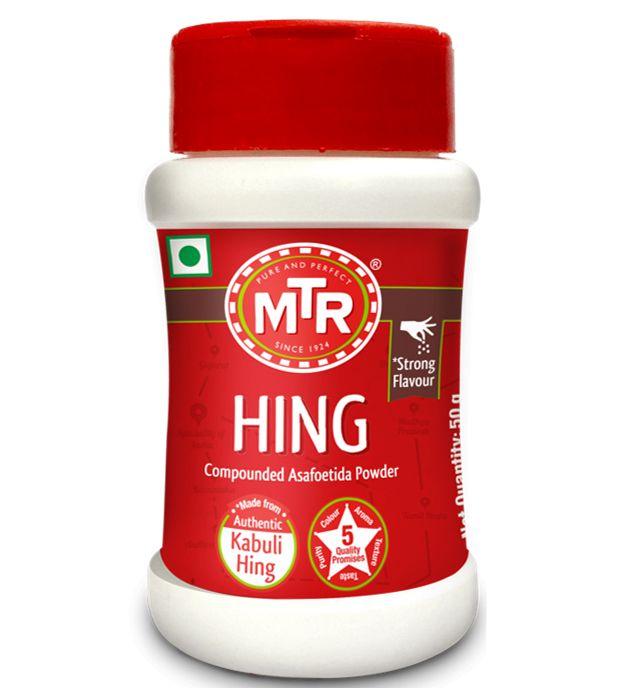 Асафетида MTR HING с ароматом лука и чеснока, 50 г (отправка из Индии)