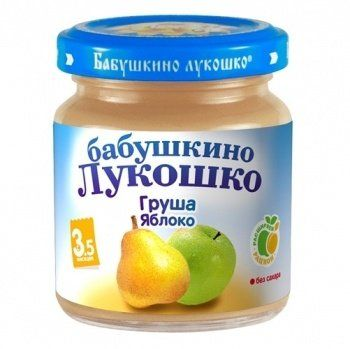 Пюре Бабушкино Лукошко груша б/сахара с 3,5мес. 100г