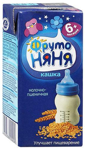 Каша Фрутоняня жидкая молочная пшеничная 200мл. Россия