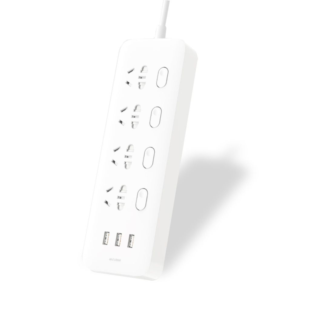 Удлинитель Xiaomi MiJia Power Strip (4 розетки + 3 USB-port) 2 м.