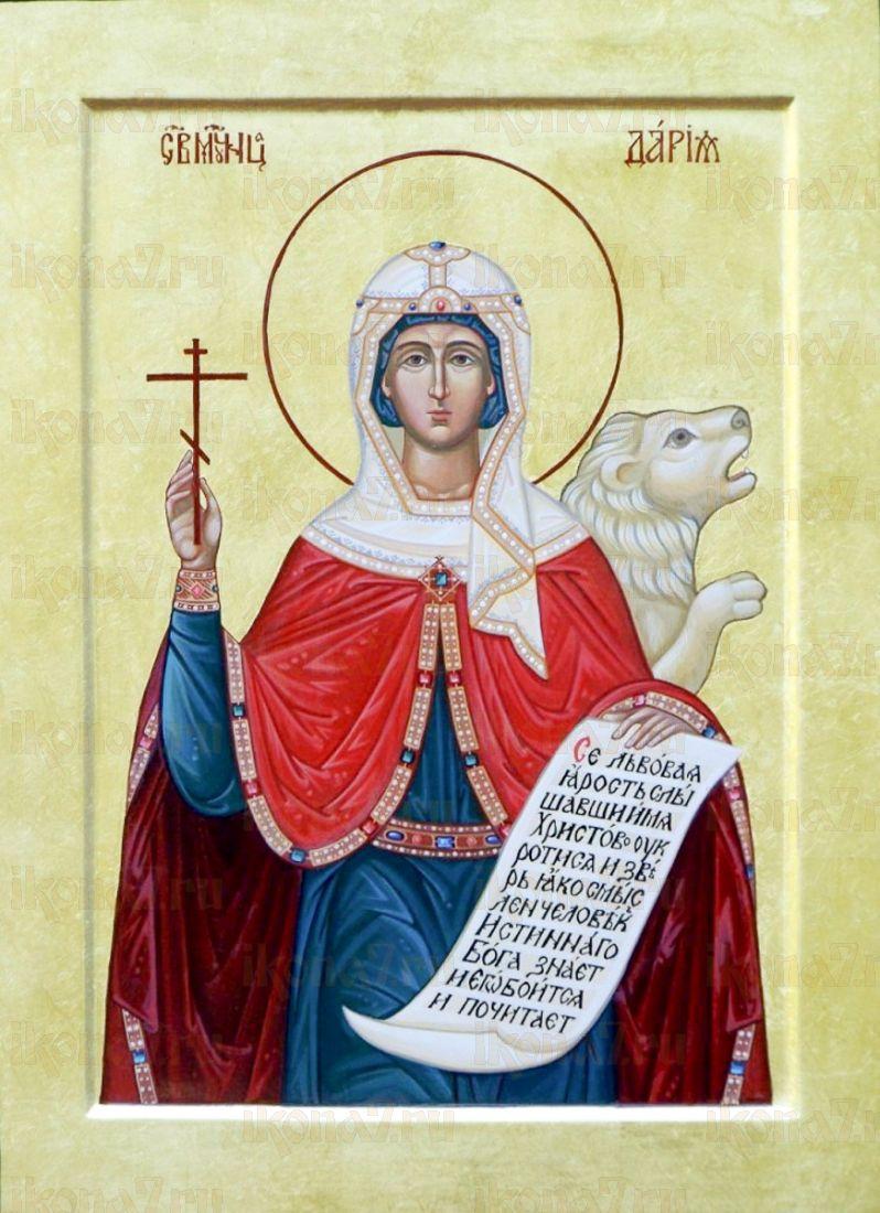 Дария Римская (икона на дереве)
