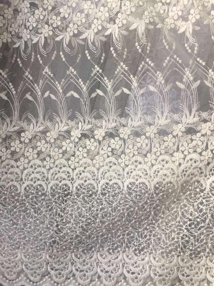 Турецкая тюль вышивка на сетке 1547