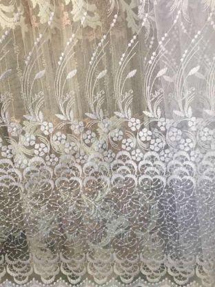 Турецкая тюль вышивка на сетке 1548