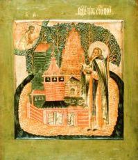 Икона Нил Столобенский (копия 17 века)