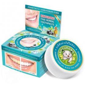 Круглая зубная паста с бамбуковым углем «BINTURONG», 33г
