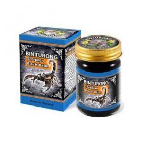 Тайский чёрный бальзам Бинтуронг с ядом скорпиона 50 гр.