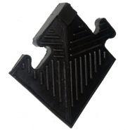 Уголок резиновый для бордюра MB Barbell 20 мм чёрный