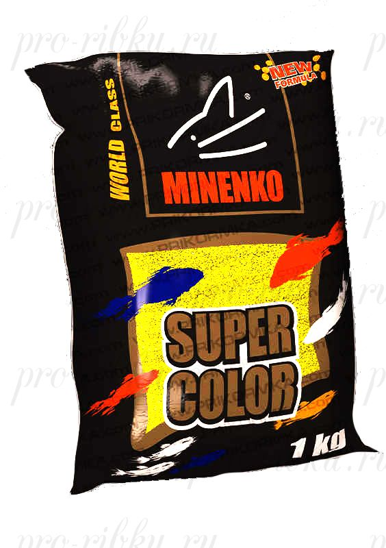 Прикормка МИНЕНКО Super Color Carp (Карп), Желтый, вес 1 кг