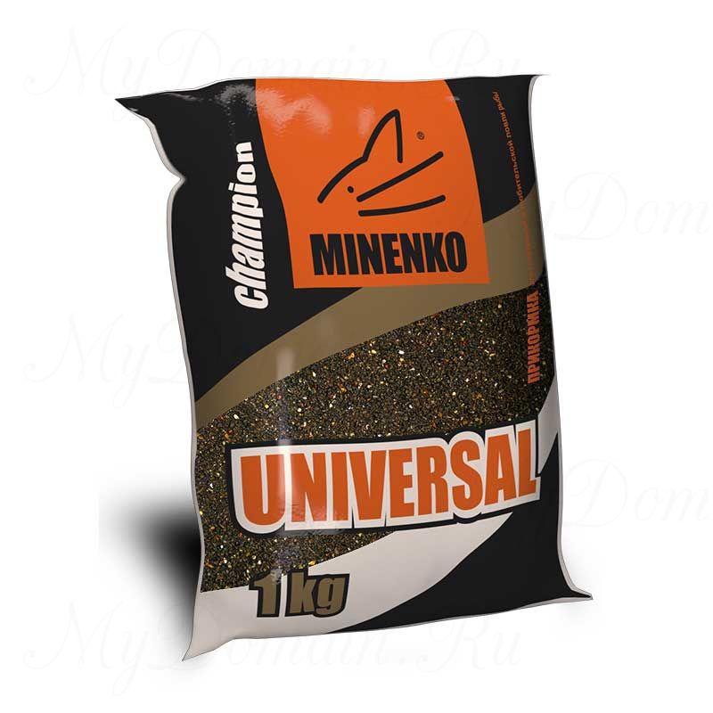 Прикормка МИНЕНКО Universal (коричневая), вес 1 кг