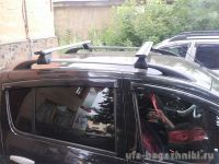 Багажник на рейлинги Renault Sandero / Renault Sandero Stepway, Евродеталь, крыловидные дуги