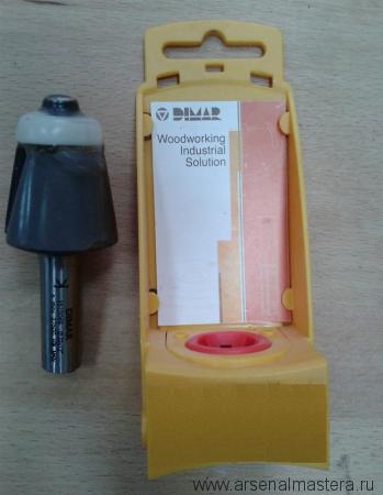 Концевая обгонная фреза с торцевым подшипником, для снятия фасок D32 B25,4 d12 DIMAR 1510049