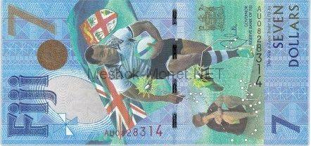 Банкнота Фиджи 7 долларов 2016 год