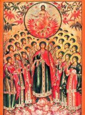 Икона Собор Архангела Михаила (копия старинной)
