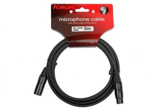 KIRLIN MPC-270 6M BK Микрофонный кабель XLR <-> XLR, 6 м