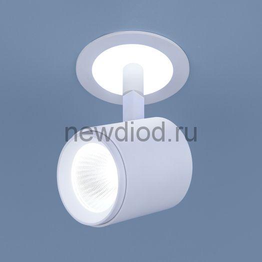 Акцентный светодиодный светильник DSR002 9W 6500K белый матовый
