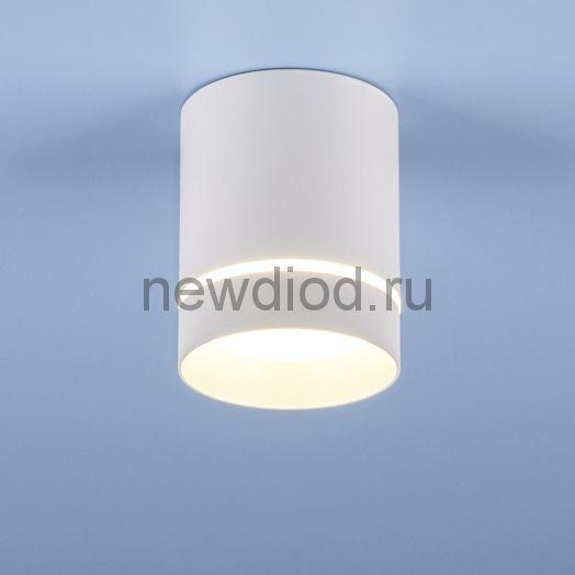 Накладной точечный светильник DLR021 9W 4200K белый матовый