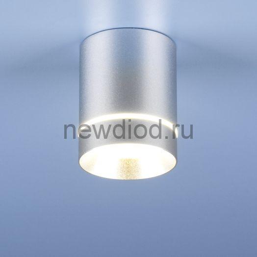 Накладной точечный светильник DLR021 9W 4200K хром матовый