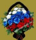 Ритуальная корзина 90 см из искусственных цветов N7, РАЗМЕР 90см