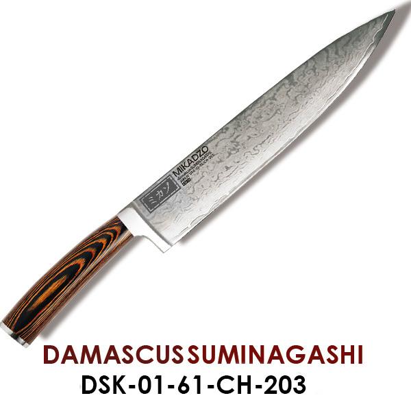"""Нож """"Шеф"""" Mikadzo Damascus Suminagashi (4996089)"""