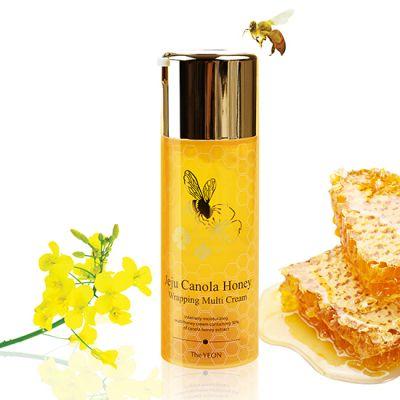 Крем для лица антивозрастной TheYEON Jeju Canola Honey Wrapping Multi Cream 100мл