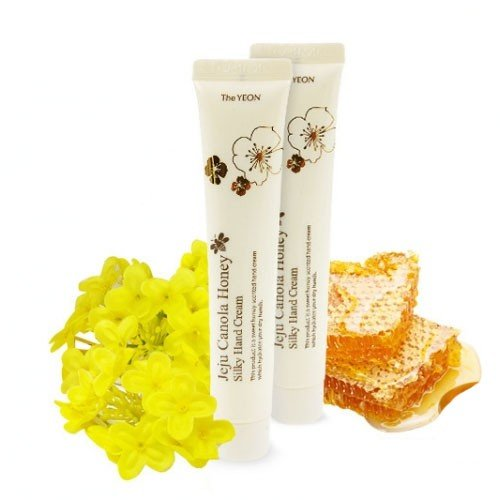 Крем для рук с экстрактом меда канола  TheYEON Jeju Canola Honey Silky Hand Cream 50мл