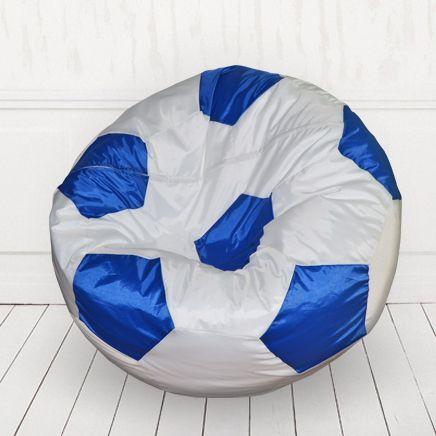 Кресло мяч Белый с синим